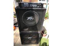 Hartke Ha3000 bass amp head and peavey speaker stack £275 o.n.o