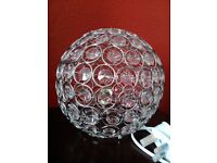 Round Beaded Crystal Table or Bedside Lamp