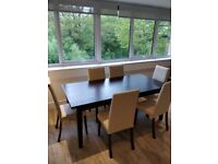 Dinning Table and 6 chairs available for sale