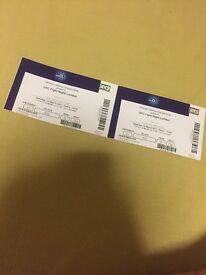 2 UFC LONDON TICKETS. Block 412, Row G, seats 738-739 unrestricted view. Sold out event!