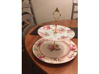 China two tier cake stand