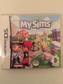 My Sims game Nintendo DS