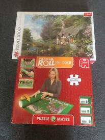 Brand new 1000 piece jigsaw puzzle and mat