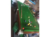 6ft x3ft pool table