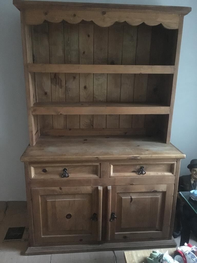 Kitchen Dining Room Solid Wood Dresser Hutch