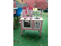 Wooden Janod kitchen mademoiselle maxi cooker pink toy