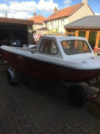 14FT CJR FISHING BOAT WITH 40HP OUTBOARD ENGINE & TRAILER