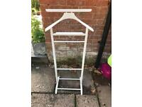 Gentleman's painted wooden valet stand