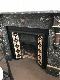 Antique Victorian Fireplace marble