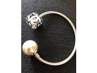 Women's Fashion Silver & Pearl Bracelet