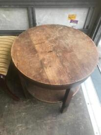 Round Hand Built Table