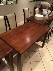 12x Leather chairs & 11x Wooden tables, used but in great condition