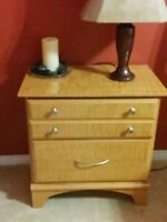 Bed, dresser with nitro night stand
