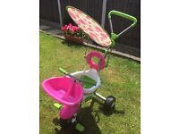 Smart trike - pink and green. Used but still in very good condition. Collection only please