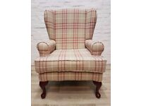 Newly Upholstered Wing back Armchair (DELIVERY AVAILABLE FOR THIS ITEM OF FURNITURE)