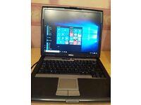 "Dell Latitude D520 laptop, 15"" screen, T7200 @2GHz, 4GB Ram, 500GB HD, DVD/RW, Win 10, Spare battery"