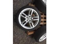 "Audi alloys 5 parallel ronal 18"" 245/40r18 good tyres"