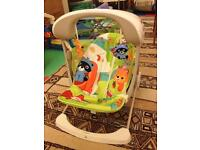 Fisher-price rainforest friends baby swing with music and vibration