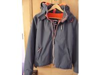 Superdry Windhiker Coat, Unisex, Grey with Peach/Orange Interior, for kids or adults - used