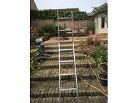 Three way ladder. Good condition.