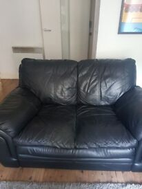 2 seater leather sofas, used but in very good condition