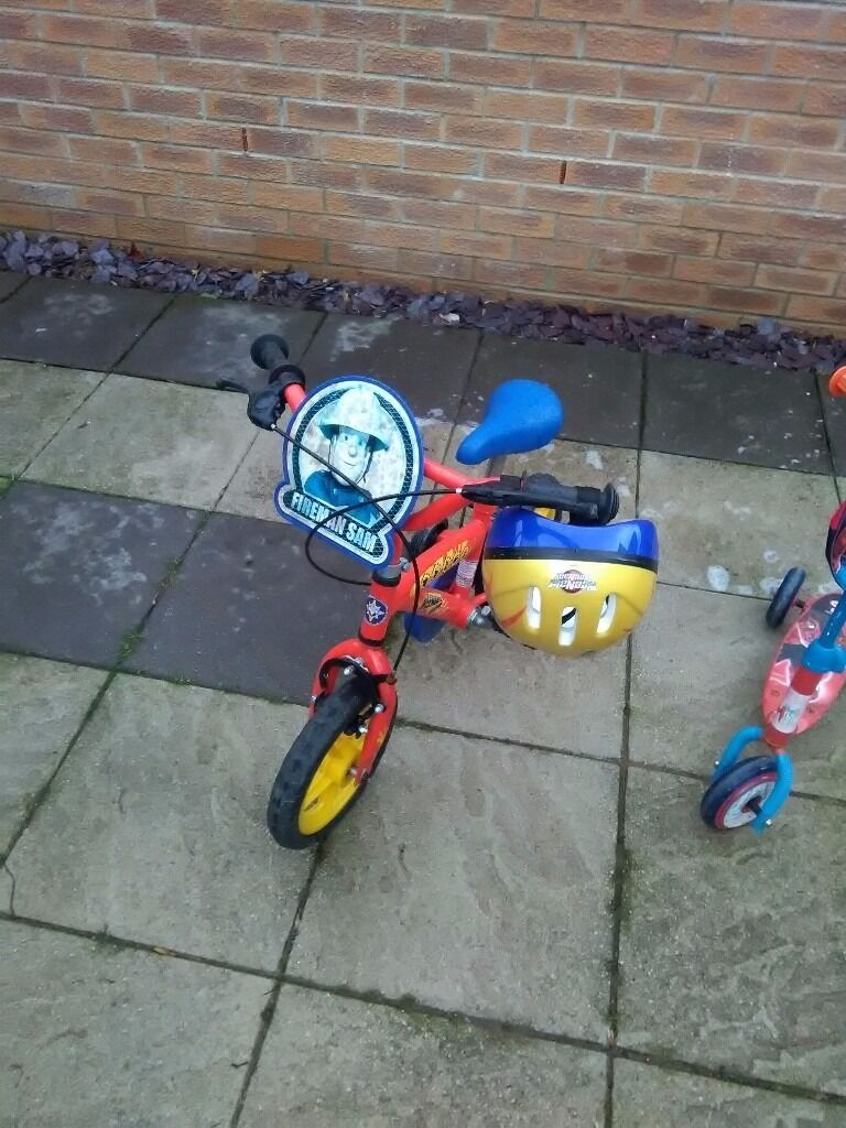 Fireman Sam bike with helmetin Ilkeston, DerbyshireGumtree - Still plenty of use left. Slight rust to bolts. Suitable up to 5 years Sorry cant deliver