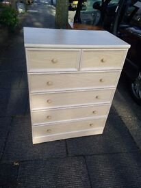 SILVER BIRCH EFFECT CHEST OF 6 DRAWERS