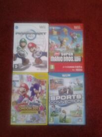 4 x Wii Games for sale.