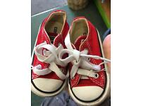 Red converse toddler size 3
