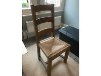 4 Hardwood Kitchen / Dining Room Chairs