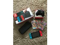 Nintendo Switch + 3 Games + Extra Controller + Travel Case BOXED