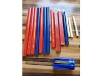 Carpenters pencils plus sharpener