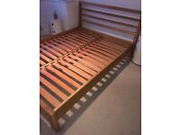 John Lewis Kingsize Solid Oak Monterey Bed Frame, with assembly instructions for sale  High Wycombe, Buckinghamshire