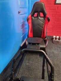 gaming chair sim racing rig