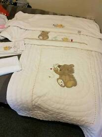 Cot bed bedding