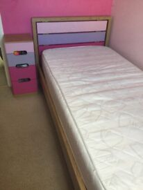 Single Bed, Chest of Drawers & Bedside Cabinet