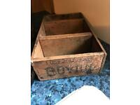 Original vintage BOVRIL jars &box
