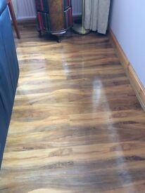 B&Q Dolce High Gloss laminate flooring.