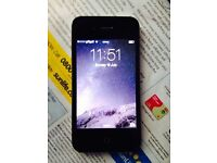 APPLE IPHONE 4S 8GB BLACK,UNLOCKED TO 02 TESCO GIFF GAFF,GOOD CONDITION
