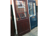 Exterior hardwood door with a large clear glass double glazed panel