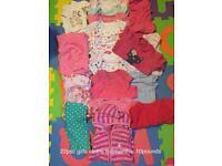 22psc girl cloths. 6-9months.