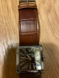 Armani Brown Leather Quartz Watch