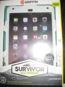 Griffin Survivor Case / Cover for Apple iPad mini 1 / 2 / 3 /4 Tablet. Rugged. Shock Proof. WaterProof. Screen Protector