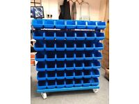 Warehouse Picking Trolly With 98 Parts Bins