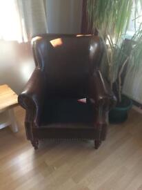 Reproduction leather Dorchester armchair