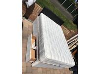 4ft small double divan bed with 2 draws/headboard and mattress