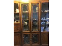 Solid, real wood, display cabinet