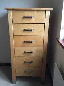 Wooden drawer unit