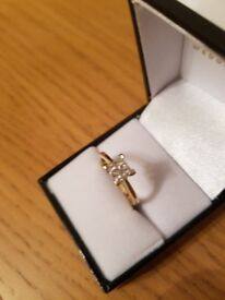 9ct gold, 0.50ct diamond engagement ring, professionally cleaned, hardly worn