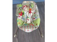 Fisher Price Rainforest Friends Calming Vibrations Baby Bouncer Chair